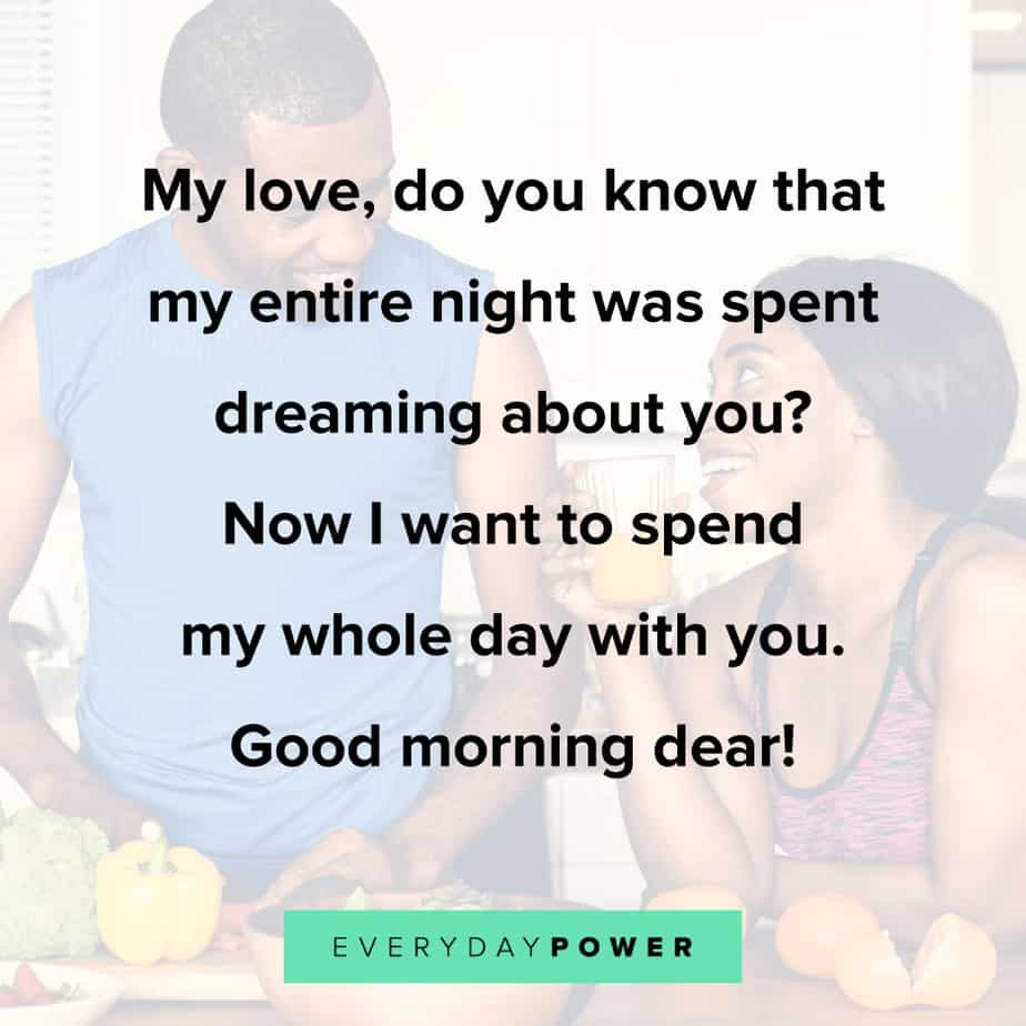 Good Morning Quotes for Him to keep him dreaming of you