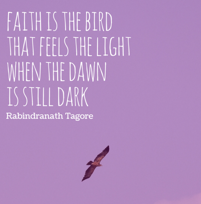 faith is the bird good morning